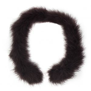 Brown Marabou Feather Scarf - 33