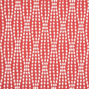 Scarlet Polka Dotted Cotton-Poly Woven