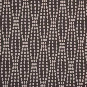 Charcoal Polka Dotted Cotton-Poly Woven