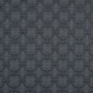 Charcoal Geometric Embroidered Cotton-Poly Woven