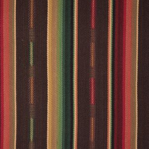 Brown/Red/Yellow Barcode Striped Cotton Twill
