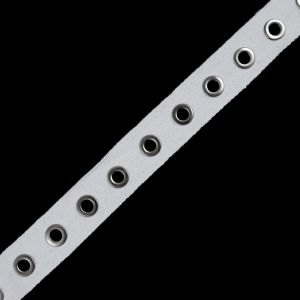 Italian White Tape with Silver Grommets - 1.25
