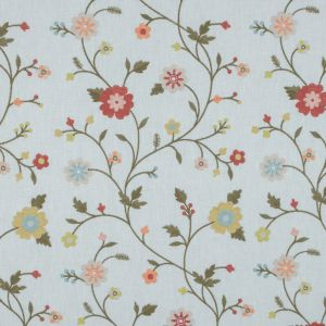 White Floral Embroidered Linen-Like Woven