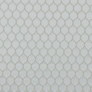 Shell Geometric Embroidered Polyester Satin