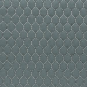 Seaglass Geometric Embroidered Polyester Satin