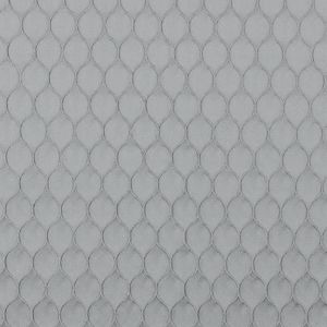 Silver Geometric Embroidered Polyester Satin
