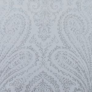 Frost Cotton Faille with a Silver Paisley Foil