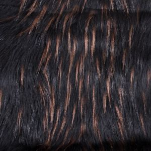 Black and Brown Long Haired Faux Fur