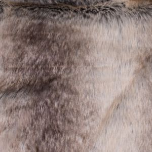 Brown and Beige Striped Faux Fur