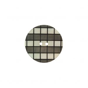 Italian Black and White Checkered Mother Of Pearl Button - 28L/18mm