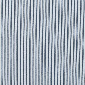 Navy and White Ticking Striped Cotton Twill