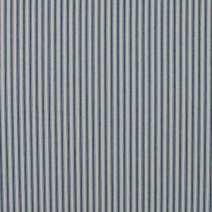 Vintage Ink and Beige Ticking Striped Cotton Twill