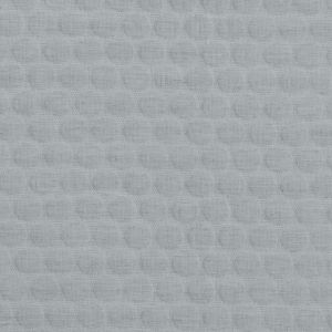 Gray Circular Quilted Upholstery Woven