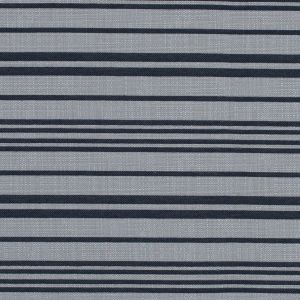 Navy Blazer and Beige Barcode Striped Polyester Woven