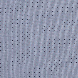 Red Polka Dotted Navy and White Graph Check Cotton Shirting