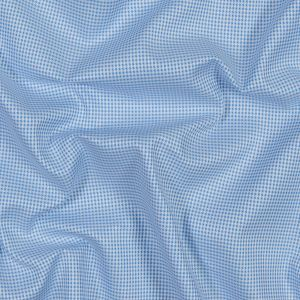 Blue and White Checkered Luxury Cotton Shirting