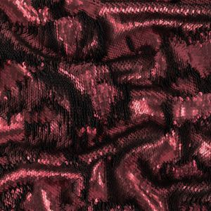 Two-Tone Vineyard Mist Paillette Sequins on Black Rayon Stretch Jersey Backing