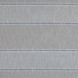 Natural and Metallic Silver Awning Striped Drapery Sheer