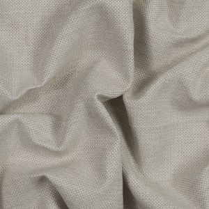 Beige and White Basket Woven Polypropylene Upholstery Fabric