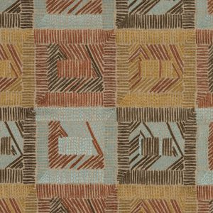 Raisin Geometric Embroidered Upholstery Woven