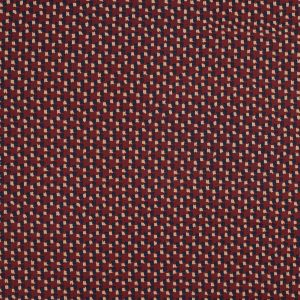 Red, Navy and Beige Abstract Stretch Cotton Sateen