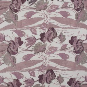 Metallic Pink and Silver Floral Embroidered Tulle