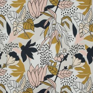 Mood Exclusive Pushing Up Daisies Peach Parfait Stretch Cotton Sateen