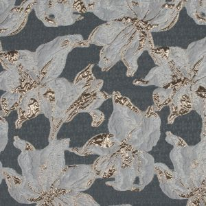 Metallic Gold and White Luxury Floral Burnout Brocade