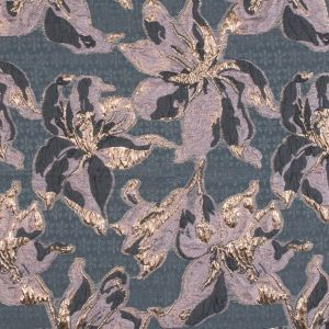 Mauve, Gray and Metallic Gold Luxury Floral Burnout Brocade