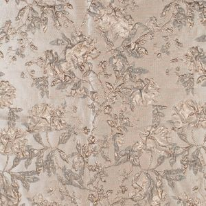 Pale Gold and Beige Luxury Floral Metallic Brocade