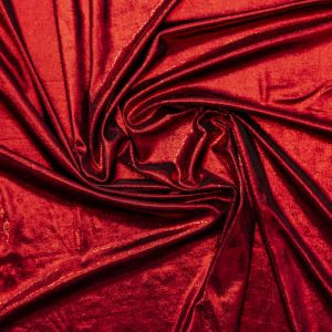 All-Over Metallic Red Foil Rib Knit