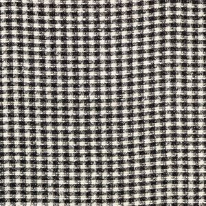 Metallic Black, Gold and Off-White Polyester Tweed