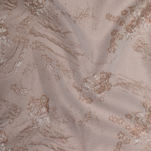 Luminous Taupe Abstract Luxury Double-Layer Organza Brocade