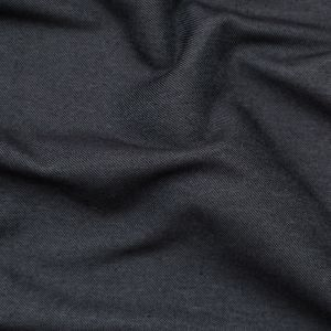 Black Polyester and Cotton Twill
