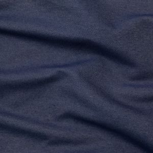 Navy Polyester and Cotton Twill