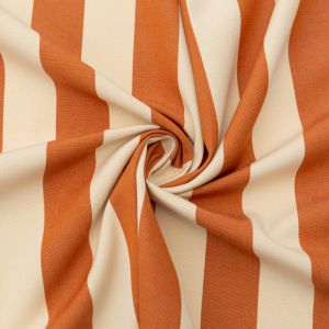 Rust Awning Striped Polyester Woven