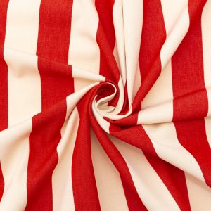 Red Awning Striped Polyester Woven