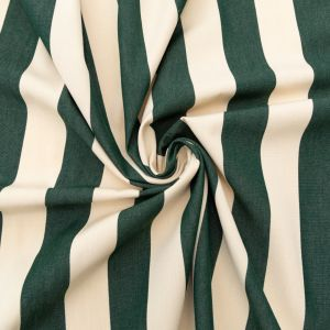 Hunter Green Awning Striped Polyester Woven