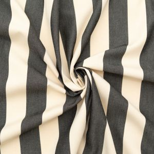 Black Awning Striped Polyester Woven