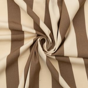 Brown Awning Striped Polyester Woven