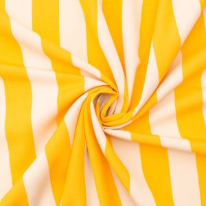 Yellow Awning Striped Polyester Woven