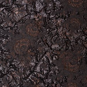 Metallic Two Penny and Black Floral Luxury Double Layer Orangza Brocade