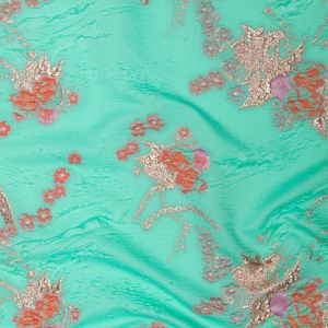 Cascade, Orchid Haze and Metallic Bright Gold Floral Luxury Brocade