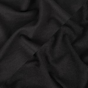 Black Cotton Blend French Terry