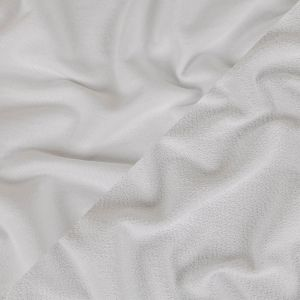 White Cotton Blend French Terry
