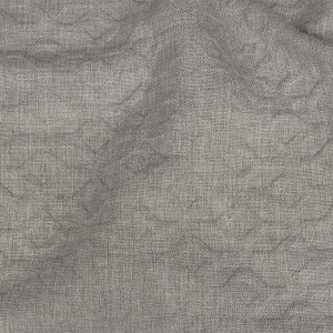 Crypton Tolkie Gray Geometric Embossed Upholstery Fabric