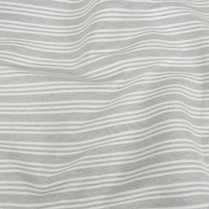 Gray Double Wide Drapery Twill with Raised White Stripes