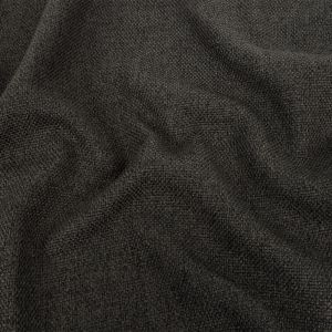 Dark Charcoal Basketwoven Polyester and Cotton Home Decor Fabric