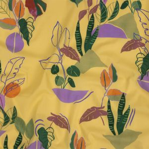 Mood Exclusive Yellow Succulent Contours Cotton Shirting