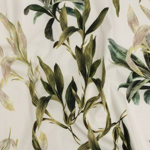 Mood Exclusive Ivory To Leaf Alone Stretch Cotton Twill